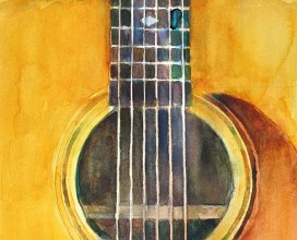 """MARGE GUITAR - 11"""" x 14"""""""