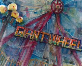 "GIANT WHEEL AT LBI - 16"" x 20"""