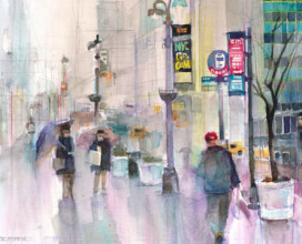 "ACROSS FROM GRAND CENTRAL STATION - 11"" x 14"""