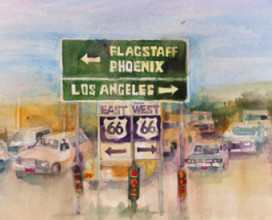 "LOST! ROUTE 66 - 10"" x 20"""