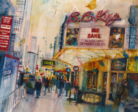"BB KINGS - NYC  12"" x 18"""