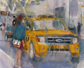 "Taxi Demo 11"" x 13"" - (Sold)"