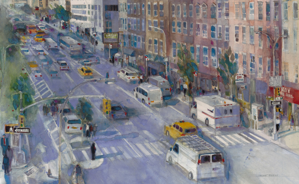 Going Home - View from the Port Authority, New York - 16 x 25