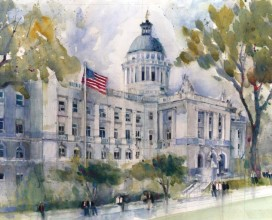 "HACKENSACK COURT HOUSE - 16"" x 20"""