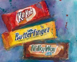 Kit Kat, Butterfinger, Milky Way 8 x 10