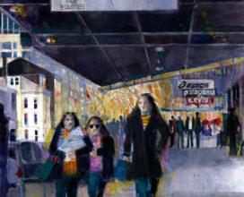 Downtown Babes 13 x 17